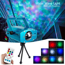 RGB Laser Show Light Projector Water Ripple Wave DJ Stage Disco Party Club LED