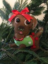 Addobbo albero di Natale cagnolina in pannolenci