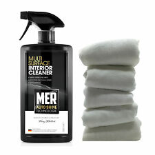 Mer Multi Surface Car Interior Dashboard Upholstery Cleaner + 5 Cotton Cloths