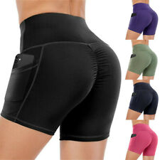 Women's Elastic Out High Waist Leggings Tight Sports Casual Yoga Short Pants US