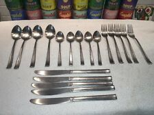 19 pc nice set vintage Supreme Cutlery Towle Sateen Stainless Flatware