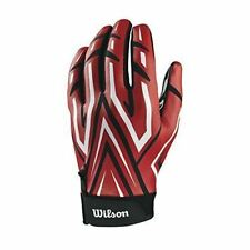 Wilson The Clutch Skill Football Gloves YOUTH Red Pair