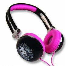 Nuevos Auriculares Monster High Rosa Negro Ajusta MP3 MP4 reproductor de CD radio PC 670146