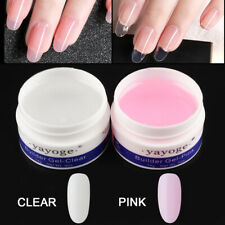 2pcs Builder UV LED GEL Constructor Nail Extend Universal Glue Clear + Pink
