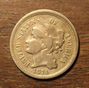 1874 Three 3 Cent Nickel...........  Lot# 9099