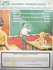 American Desk Mfg Co Chalkboard Catalog Cement ASBESTOS use in Schools 1960's