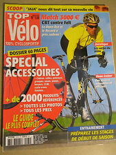 TOP VELO N°130: JANVIER 2008: MATCH A 3000€ - SPECIAL ACCESSOIRES - HOME TRAINER