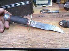 Vintage Antique Kinfolks Fixed Blade FIGHTING Knife COMBAT WW 2  VIETNAM ERA