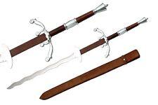 "50"" Massive Landesknechte Claymore Flamberge Medieval 2 Handed Sword & Sheath"