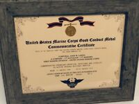 Military Commemorative ~ U.S. MARINE CORPS CONDUCT MEDAL CERTIFICATE