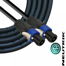 Neutrik Neutrik 4 Pole Speakon NL4FX Passive Speaker Cable PA 1m Link Lead
