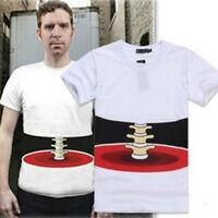 3D Creative Funny Mens Short Sleeve T-shirts Tops Skeleton White Boyfriend Gift