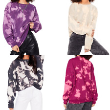 Women Oversized Sweat Shirt Tie Dye Design - Tik Tok Effect Sweat Jumper Top