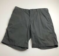 Columbia Men's Flat Front Casual Shorts 38 W 10 L Gray Zipper Fly Pockets