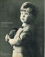 PUBLICITE ADVERTISING 015  1965  LANVIN   cadeau pour maman parfum