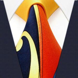 S&W SHLAX&WING Mens Neckties Ties Printed Geometric Multicolor Silk New