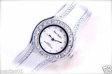 Ladies`s Silver tone Bangle Watch with Decorative Rhinestone dial Paul jardin®