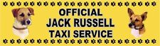 JACK RUSSELL OFFICIAL TAXI SERVICE  Dog Car Sticker  By Starprint