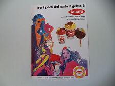 advertising Pubblicità 1971 GELATI TANARA VALENTINA/ZINGARA
