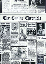 Timeless Treasures~ Canine Chronicle DOG NEWSPAPER ~100% Cotton Quilt Fabric BTY