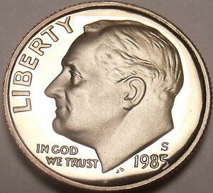 États-unis Preuve 1985-S Roosevelt Dime ~ Fantastique