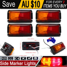 4 X 8-LED SIDE MARKER LIGHTS, CLEARANCE LAMP RED AMBER TRAILER TRUCK 10 - 30V