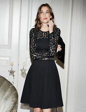 Nuevo £ 99 Boden Selena Encaje Vestido Negro Ponte Talla Reino Unido 12R-Envío Gratis