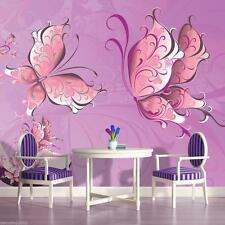Fototapete Schmetterlinge Kinderzimmer Mädchen Tapete Wandtapete Rosa 27