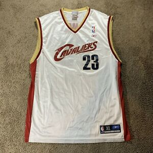Vintage 90s/Y2K Lebron James #23 Cleveland Cavaliers Jersey Adult XL in White