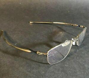 Oakley Lizard 2  OX5120 0451 Eyeglass FRAMES ONLY Square Wrap Silver Wire