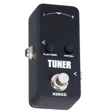 KOKKO Chromatic Mini Pedal Tuner Guitar Tuner Effect Device Dual Display Black #