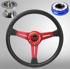 Red Steering Wheel Hub Quick Release Blue Combo For Mitsubishi Eclipse 1990-2003