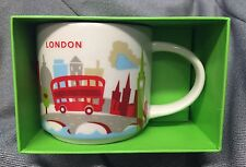 Starbucks London YAH Mug England Tower Red Bus Thames Big Ben You Are Here New