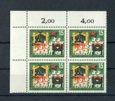 BUND Nr.409 ** ECKRAND-Viererblock links oben - VARIANTE !!! (119685)
