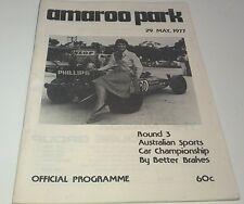 May 1977 AMAROO PARK Aust Sports Car Championship Race Programme MAZDA RX5 AD