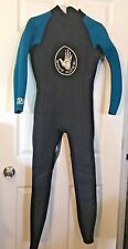 Woman's Body Glove Full Wetsuit 3/2 Mm Ladies Size 11 (XL) Teal/Black