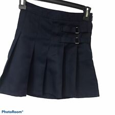 French Toast Girls Navy Blue Uniform Pleated Adjustable Skirt Skort, Size 7