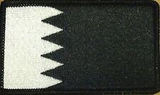 BAHRAIN Flag Patch With VELCRO® Brand Fastener Black & White Version BLACK  #2