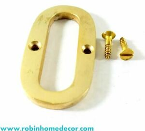 50MM (2Inch) Alphabet 'O' brass Letter Design Door House Address With 2 Screws