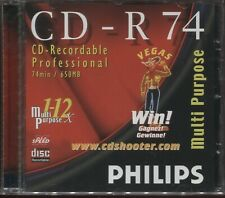 2 x Philips CD-R 74min/650MB CD Recordable Professional - NEW & Sealed 2