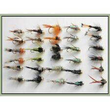 Gold Head Trout Flies, 30 x Mixed Goldhead Nymph, Mixed 10/12, Fishing flies