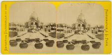 Photo J.L Stéréo Albuminé Exposition Universelle 1889