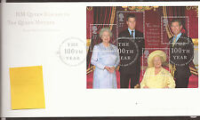 GB FDC 2000 Queen Mother m/s