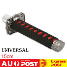 Universal 15cm Black +Red Samurai Sword Shift Knob Lever Shifter Gear Knob 5.9''