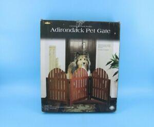 Wooden Pet Gate Adjustable Indoor Outdoor Dog#Z2B15