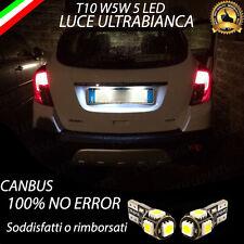 COPPIA LUCI TARGA 5 LED PER OPEL MOKKA T10 W5W CANBUS 100% NO ERRORE