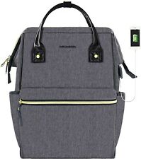 KROSER Gray Laptop Backpack 15.6 Inch Stylish School Computer Backpack Casual