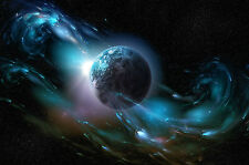 Framed Print - Magnetic Field Around Planet Earth (Picture Poster Mars Moon Art)