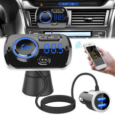 Bluetooth Handsfree Car Kit FM Transmitter MP3 Player & USB Charger For Iphone X