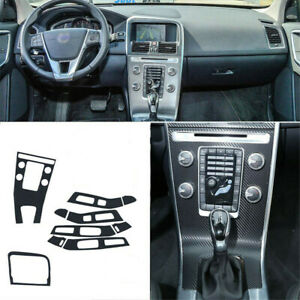 Interior Center Console Carbon Fiber Molding Sticker Decals For Volvo XC60